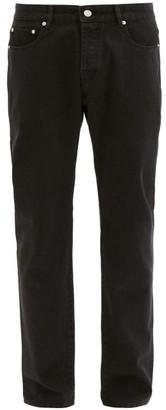 Officine Generale James Straight-leg Jeans - Black