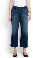 Lands' End Women's Plus Size Mid Rise Denim Crop Pants-Heirloom Indigo