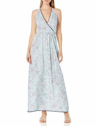 Angie Women's Plus Size Printed Floral Maxi Dress