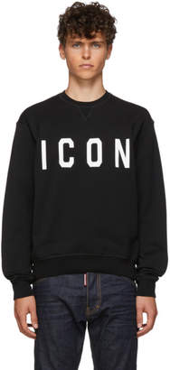 DSQUARED2 Black and White Cool Fit Sweatshirt