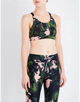 The Upside Crystal Camo Lottie stretch-jersey cropped top