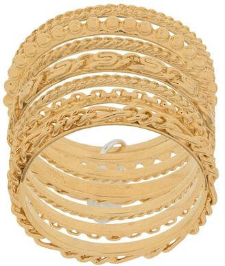 Wouters & Hendrix Sins And Senses drop-detail stack rings