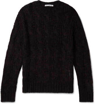 Acne Studios Melange Cable-Knit Sweater