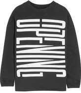Opening Ceremony Oversized Printed Cotton Sweatshirt - Black