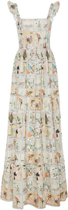 Agua Bendita Herbarium Printed Linen Maxi Dress