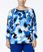 Alfred Dunner Plus Size High Roller Embellished Sweater