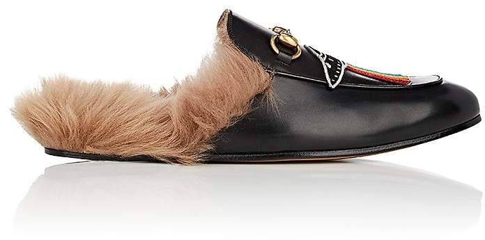 Gucci Men's Princetown Leather Slippers