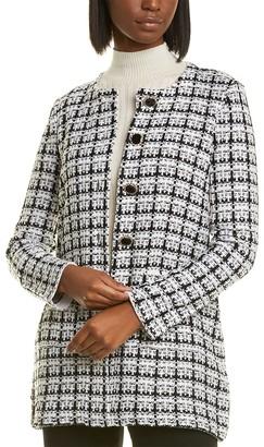 Karl Lagerfeld Paris Tweed Lurex Cardigan