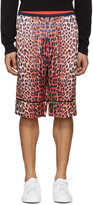3.1 Phillip Lim Reversible Orange Leopard Shorts