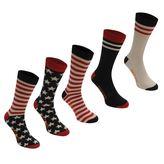 Soulcal Usa Socks 5 Pack Mens