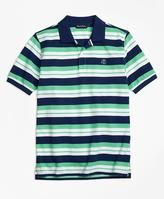 Brooks Brothers Alternate Stripe Pique Polo Shirt