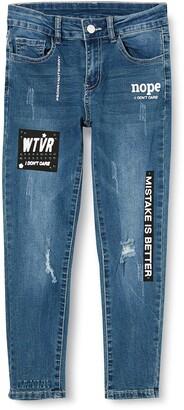 MEK Girl's Jeans Stretch Con Stampe