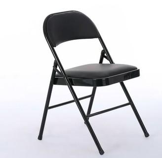 Symple Stuff Zeringue Elegant Foldable Iron 4 Piece Dining Chair Set Symple Stuff