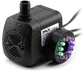 ZMLM Submersible Water Pump (15W 800L/H ) with Colorful LED Light for Fountain, Pool, Garden, Pond, Fish Tank, Aquarium, Hydroponic, Statuary