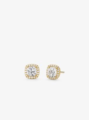 Michael Kors Precious Metal-Plated Sterling Silver Pave Stud Earrings