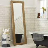west elm Parsons Floor Mirror - Natural Grass Cloth