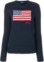 Polo Ralph Lauren flag embroidered jumper