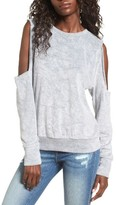 LnA Women's Doubles Cold Shoulder Sweatshirt