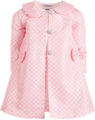 Blueberi Boulevard Toddler Girls 2-Pc. Polka-Dot Jacket & Dress Set