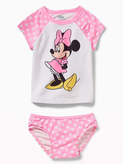 Old Navy Disney© Minnie Mouse Rashguard Swim Set for Toddler Girls