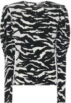 Isabel Marant Favallia stretch-silk blouse