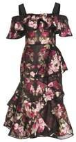 Alexander McQueen Chiffon jacquard dress