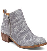 Lucky Brand Basel Side Zip Patterened Leather Booties