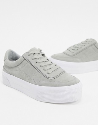 ASOS DESIGN Dynamic suede chunky sneakers in gray
