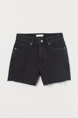 H&M Denim Shorts High Waist - Gray