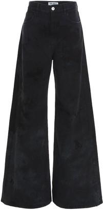 ATTICO Tie-Dye Wide Leg Jeans