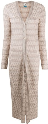 M Missoni Long Lurex Cardigan