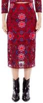 Sandro Calla Medallion Lace Midi Skirt