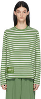 Thumbnail for your product : Marc Jacobs Green & White 'The Striped T-Shirt' Long Sleeve T-Shirt