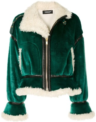 Undercover Cropped Faux Shearling Jacket
