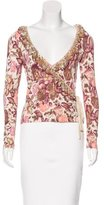 Blumarine Embellished Wrap Top