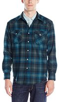 Pendleton Men's Fitted Canyon Shirt, Turquoise/Green Plaid, XL