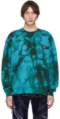 Acne Studios Blue Tie-Dye Anatomy Patch Sweatshirt
