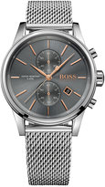 BOSS Men's Chronograph Jet Stainless Steel Mesh Bracelet Watch 41mm 1513440