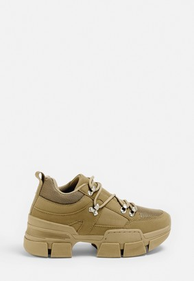 Missguided Sand Chunky Split Sole Trainers