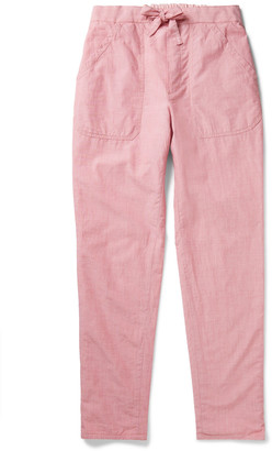 Incotex Tapered Reversible Double-Faced Cotton-Voile Drawstring Trousers - Men - Pink
