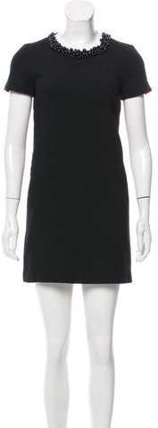 Moschino Embellished Wool Shift Dress