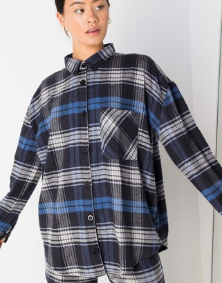 Daisy Street oversized shirt in vintage check co-ord