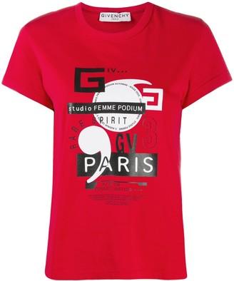 Givenchy GV3 Paris print T-shirt
