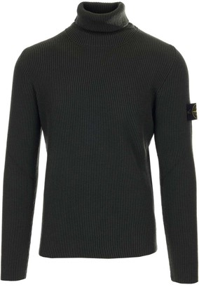 Stone Island Ribbed Turtleneck Jumper
