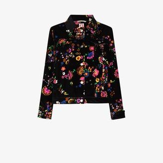Shrimps Reeve floral print velvet jacket