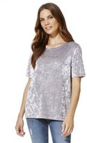 F&F Velour T-Shirt, Women's