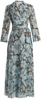 Diane von Furstenberg Leclaire-print cotton-blend wrap dress