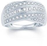 MODERN BRIDE 1/2 CT. T.W. Diamond 10K White Gold Wedding Band