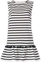 Marc Jacobs striped pompom dress