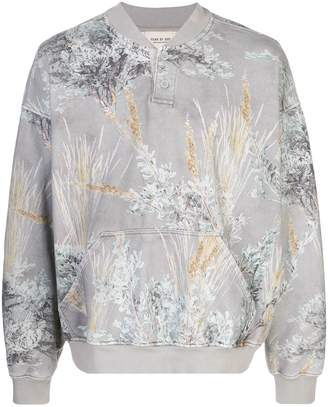 Fear Of God oversized foliage-print sweatshirt